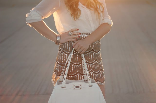 Scalloped Sequinned Skirt - from Pretty Little Details.
