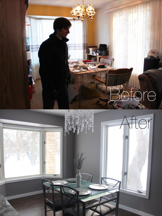 Amazing dining room transformation - www.prettylittledetails.ca