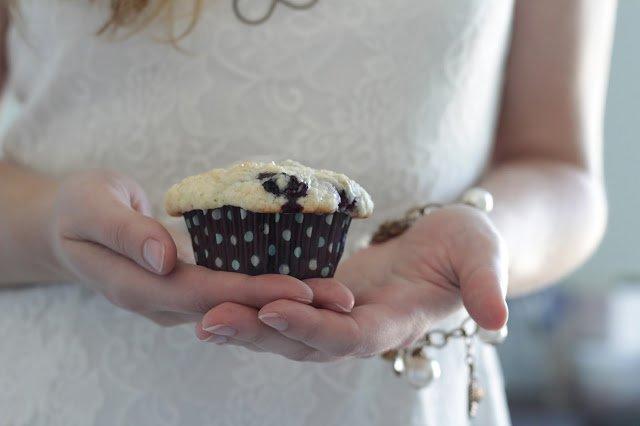 Lemony Blueberry Muffins.