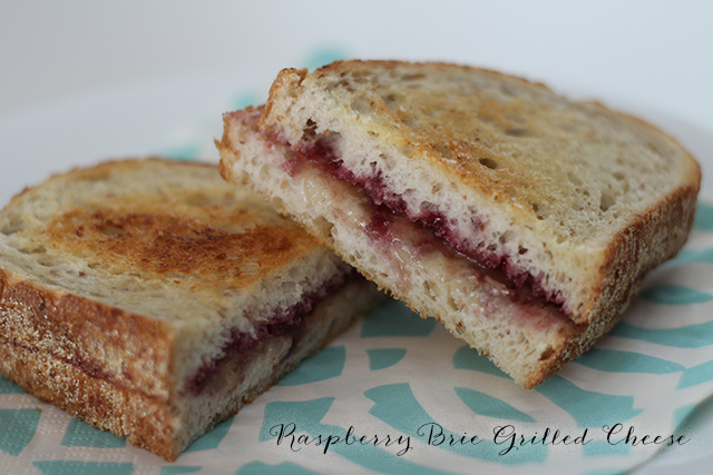 Raspberry Brie Grilled Cheese Sandwich.