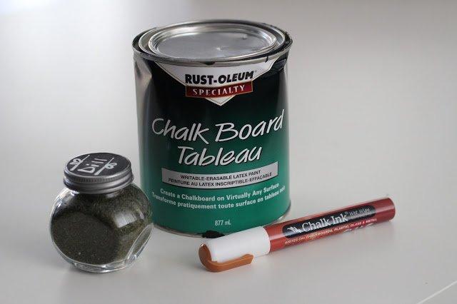 DIY Chalkboard Spice Jars - Pretty Litte Details.