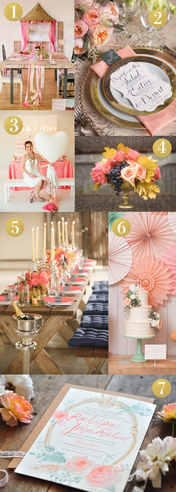 Gold and Coral party inspiration.