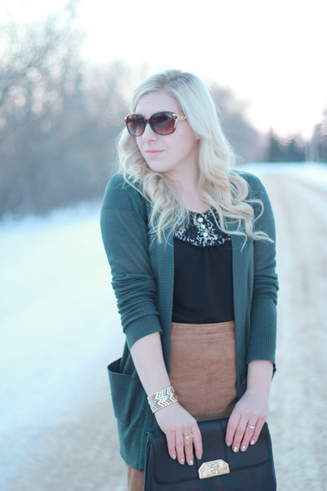 How to wear lace tights.  Inspiration from a Winnipeg fashion blogger.