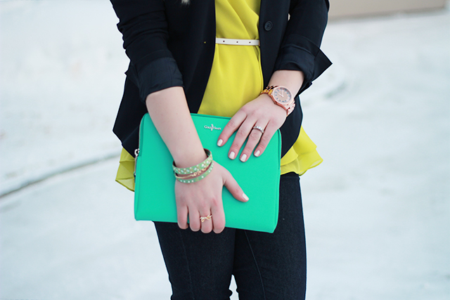 How to wear chartreuse - Inspiration from a Winnipeg style blog.