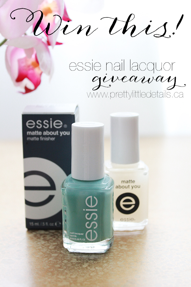 Win this gorgeous essie nail polish set from Pretty Little Details!