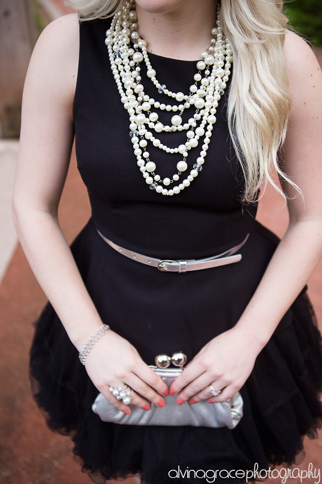 Elegant wedding guest attire.  Peplum and tulle outfit by Pretty Little Details.