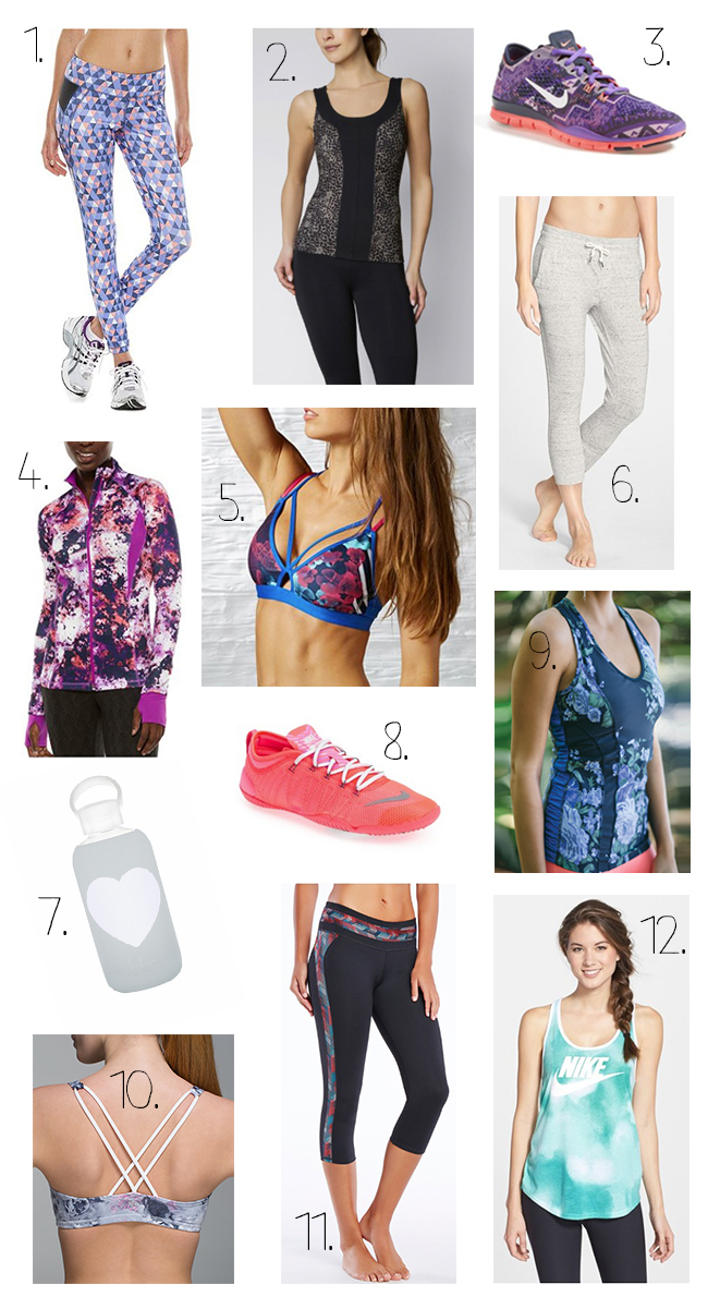 Fitness fashion trends and must haves for Spring 2015.