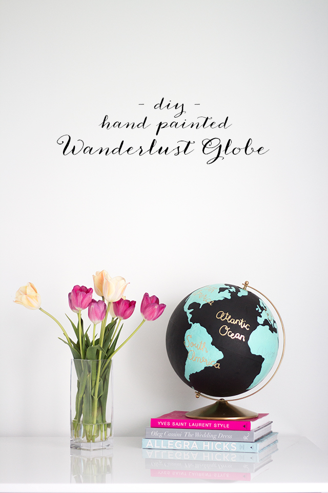 Make your own DIY Anthropologie inspired wanderlust globe.