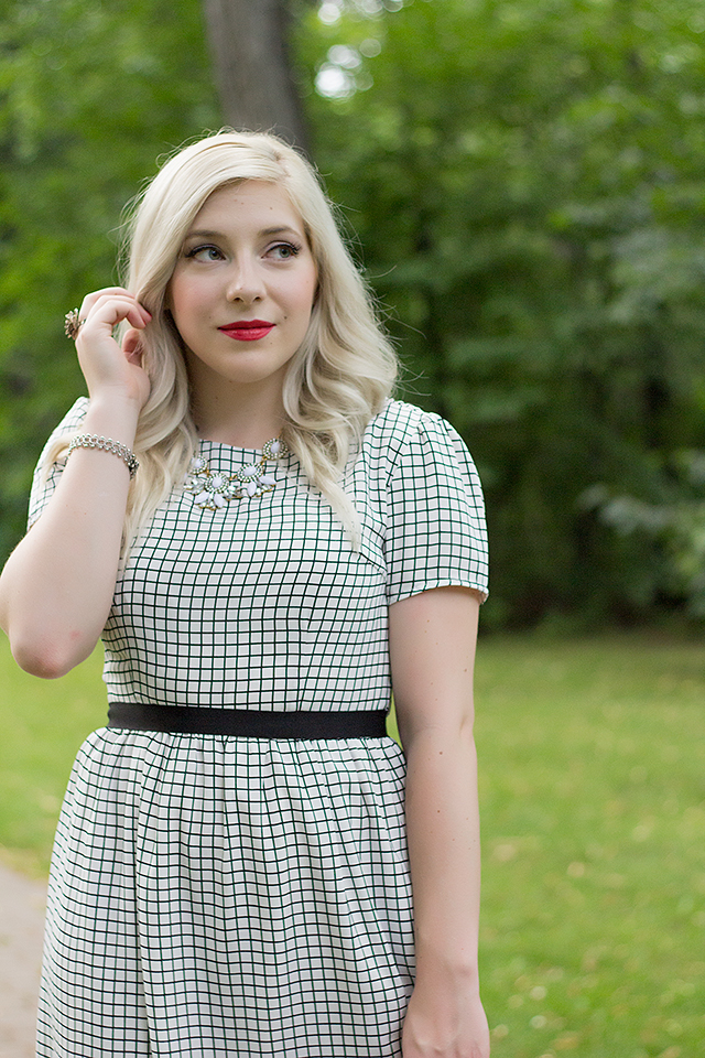 Window pane dress from Cake Boutique
