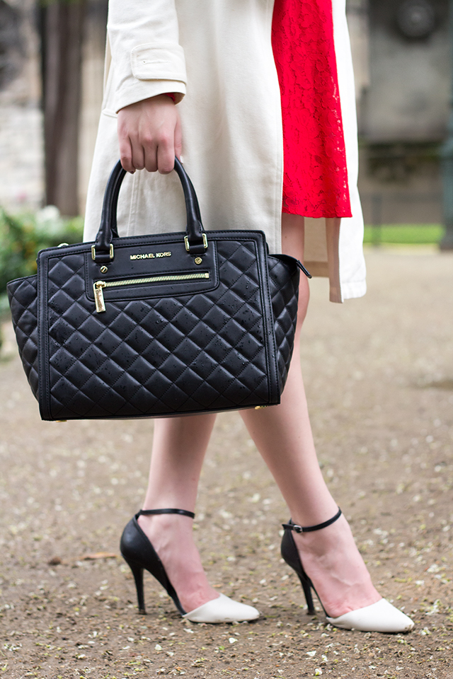 Quilted Michael Kors Black Selma Bag