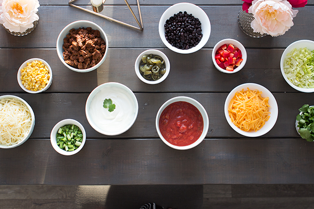 How to create your own DIY Nacho Bar! An easy and healthy party menu idea.