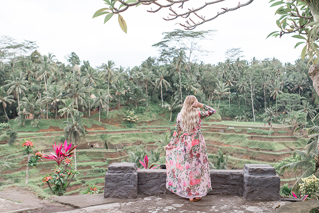 Visiting the Tengalalang rice terraces in Ubud, Bali