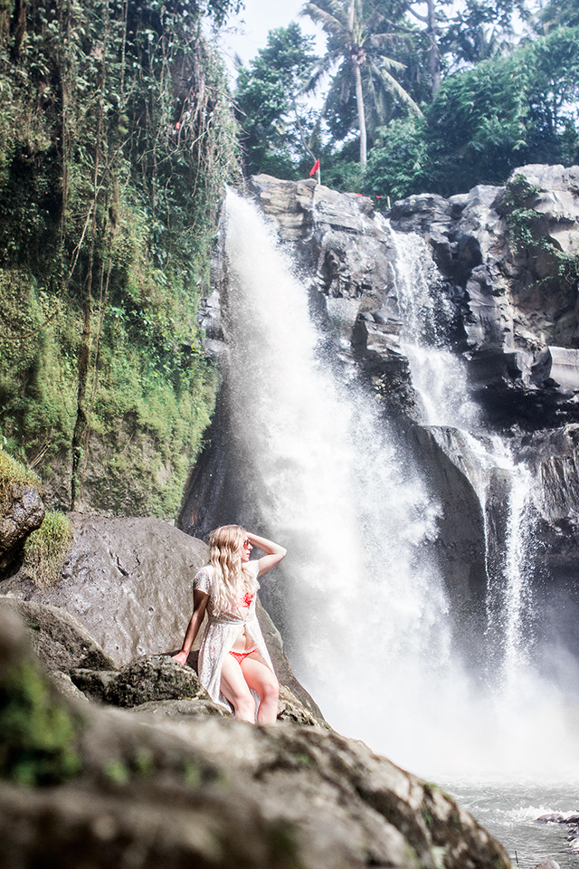 Visiting the Tegenunga waterfall in Ubud, Bali // A blogger's guide to Bali, Indonesia.