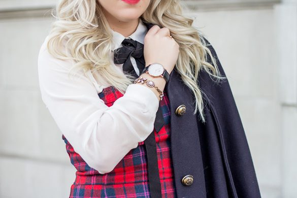 Holiday Outfit inspiration - Preppy Christmas party outfit & How to wear a cape coat.