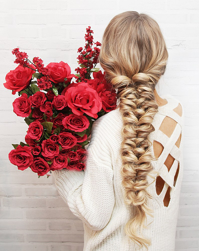Ten easy and gorgeous hair braid tutorials. How to create a pull-though braid.