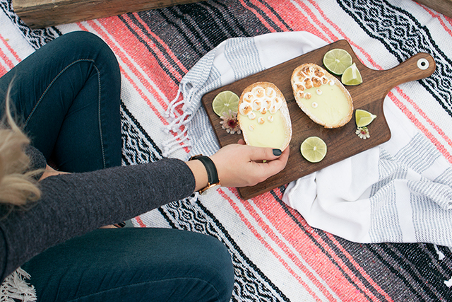 Date night picnic // Tacos salad & Mexican key lime pie