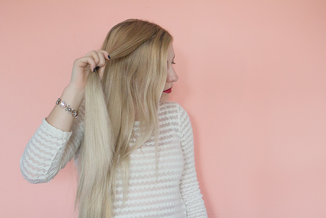 Mermaid hair tutorial: DIY double braided fishtail braid.