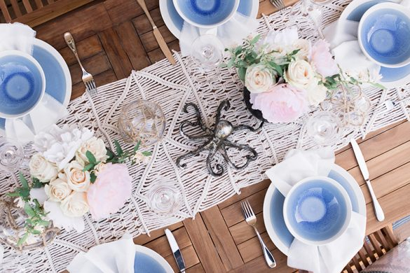 Seaside Boho dinner party with Urban Barn