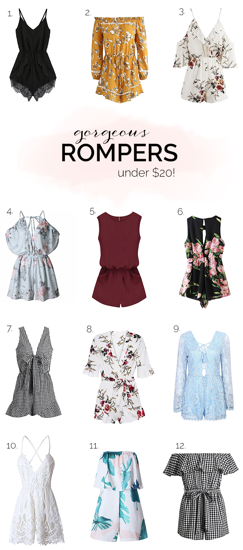 Gorgeous affordable rompers under $20 from Amazon