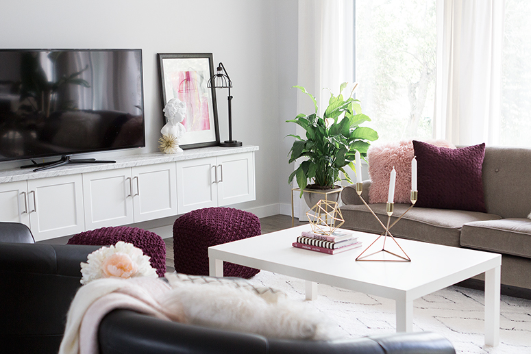 Living room reveal (+ my tips for styling your home for fall ... on burgundy kitchen decorating, burgundy and cream bedrooms, burgundy bedroom designs, french themed bedroom ideas for decorating,