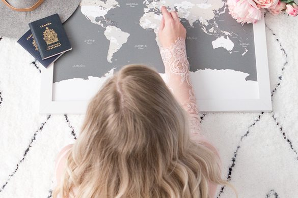 Wanderlust - World travel map by Paper Hearts