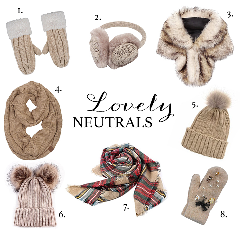 Winter accessories guide - the prettiest neutral scarves, hats and mittens