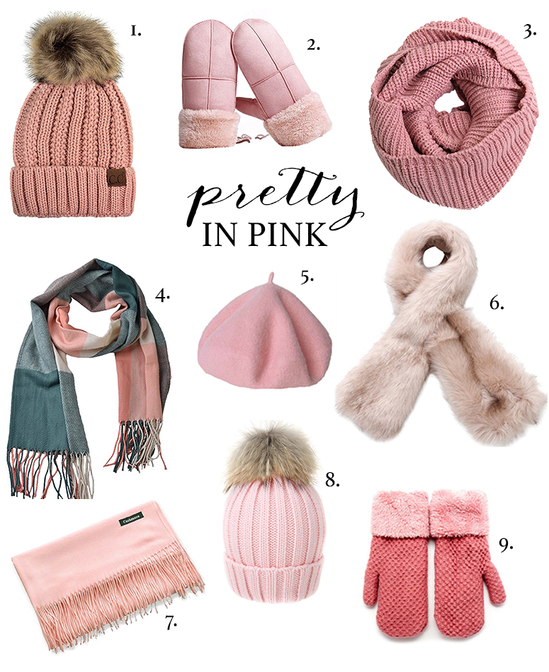Winter accessories guide - the prettiest pink scarves, hats and mittens
