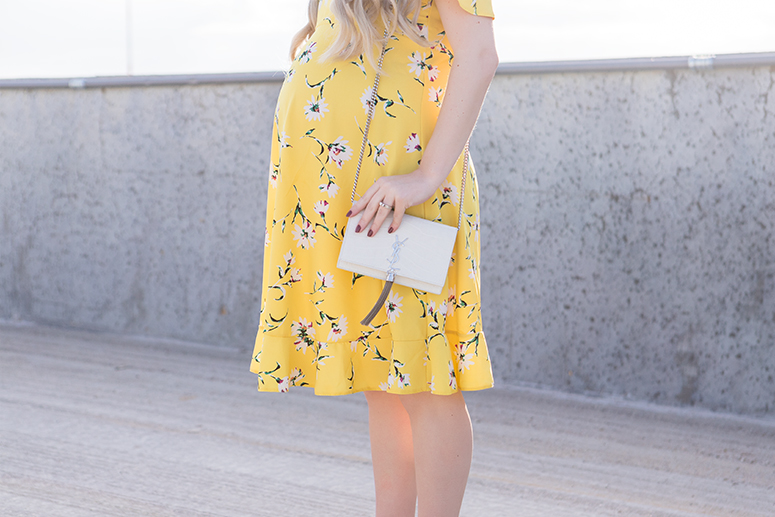 Yellow floral maternity dress from ASOS.