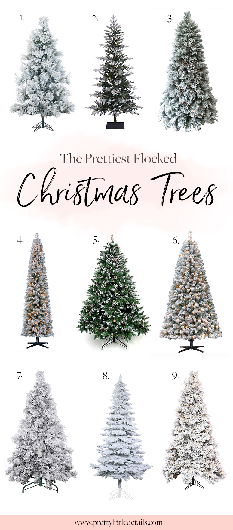 The best flocked Christmas trees.