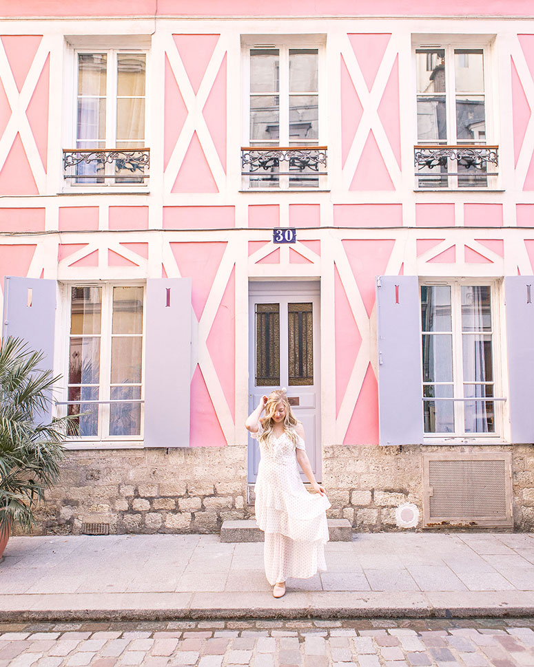 The most Instagram worthy places in Paris: the colourful street Rue Cambon.