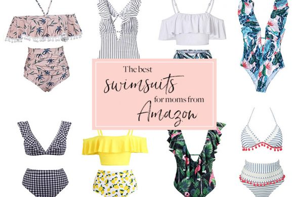 The best Amazon swimsuits - Modest high waisted bikinis and one pieces perfect for moms!