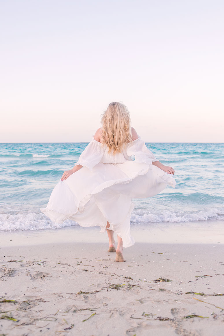 The prettiest white beach maxi dress from free people // spring break outfit inspiration