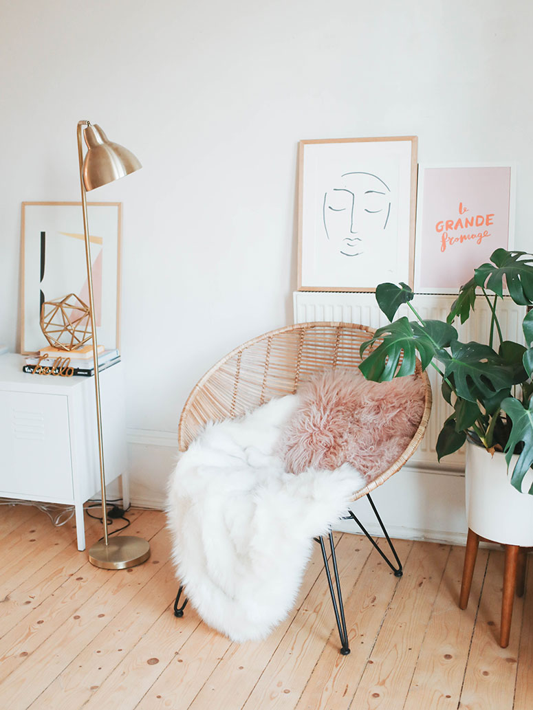 Boho home office inspiration photos | One room challenge spring 2020