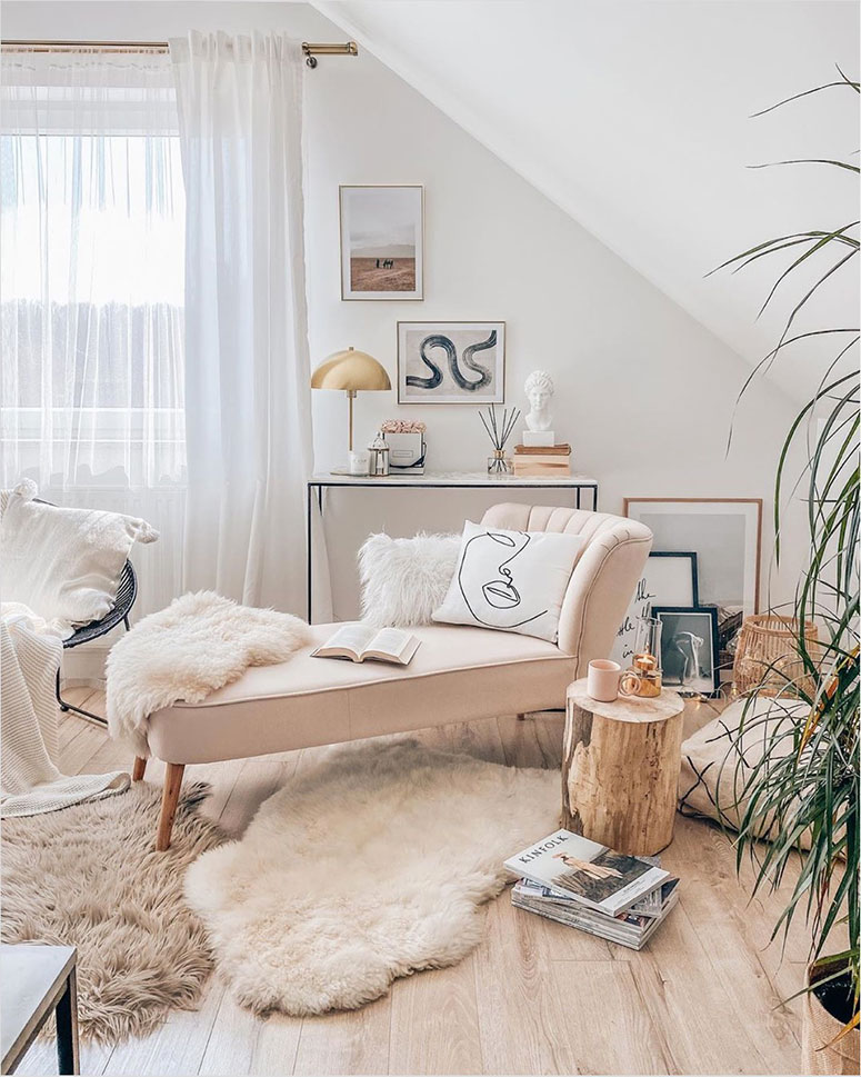 Neutral desert inspired home office inspiration photos | One room challenge spring 2020