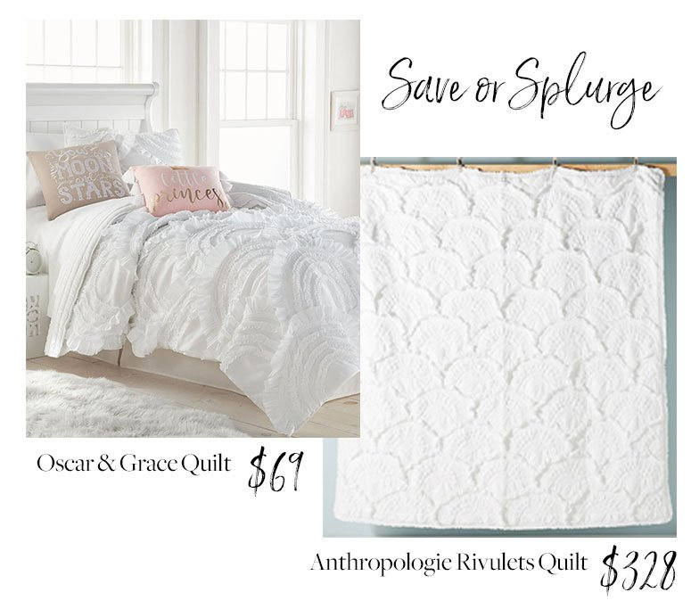 Anthropologie rivulets quilt dupe. Get the look for less!